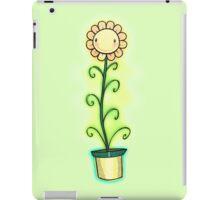 Tall sunflower smiling iPad Case/Skin