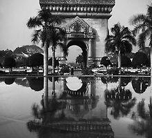 Patuxai - Vientiane, Laos by Alex Zuccarelli