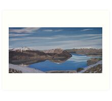 Ohau reflection Art Print
