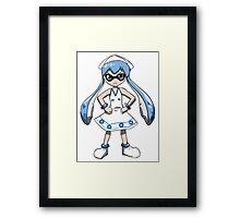 Ika Musume Splatoon Crossover Framed Print