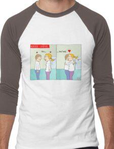 Geek love - Click and hold Men's Baseball ¾ T-Shirt