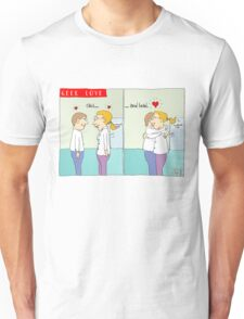 Geek love - Click and hold Unisex T-Shirt