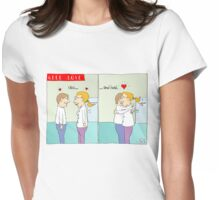 Geek love - Click and hold Womens Fitted T-Shirt