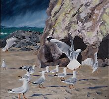 Conference at Cave Rock by Pam Buffery