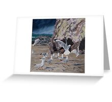 Conference at Cave Rock Greeting Card