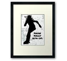 Rockin' Roller Derby Girl Framed Print