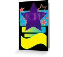 NOTEBOOKS-Recipes: 80s Retro Gradient Stars Greeting Card