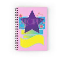 NOTEBOOKS-Recipes: 80s Retro Gradient Stars Spiral Notebook