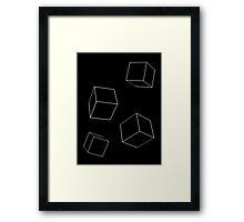 Cubes Black Framed Print