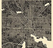 BALTIMORE MAP by JazzberryBlue