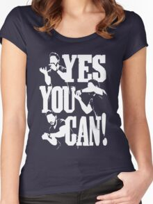 Shia Labeouf - YES YOU CAN Women's Fitted Scoop T-Shirt