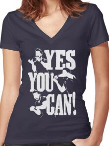 Shia Labeouf - YES YOU CAN Women's Fitted V-Neck T-Shirt