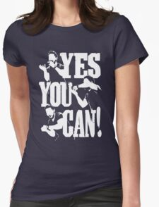 Shia Labeouf - YES YOU CAN Womens Fitted T-Shirt