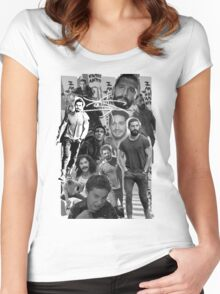 Shia Labeouf Collage Women's Fitted Scoop T-Shirt
