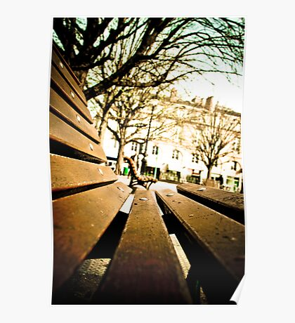 French Bench Poster