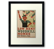 WPA United States Government Work Project Administration Poster 0962 Low Rent Woodhill Homes Cleveland Metropolitan Housing Authority Framed Print