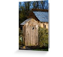 Outhouse on a Moonlit Night Greeting Card