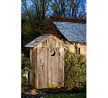 Outhouse on a Moonlit Night Photographic Print