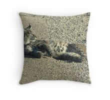 Bobcat ~ Non-captive Throw Pillow