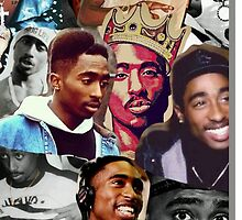 Tupac Collage Phone Cases by VisionaryCS