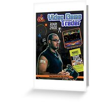 Video Game Trader #34 Cover Design Greeting Card