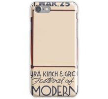 WPA United States Government Work Project Administration Poster 0455 Mormon Church Auditorium Myra Kinch and Group Festival of Modern Dance iPhone Case/Skin