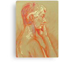 Life drawing side view Canvas Print