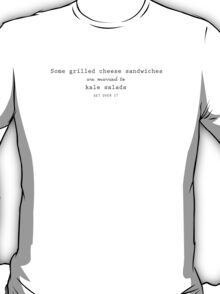 Grilled Cheese and Kale - Swan Queen (Black text) T-Shirt