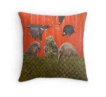 Box of birds Throw Pillow