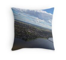 Yarrawonga from the Air Throw Pillow