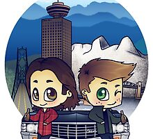 Winchesters in Vancouver by bonejangless
