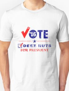 Vintage Vote Deez Nuts For President 2016 T-Shirt