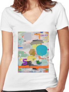 messages 05 Women's Fitted V-Neck T-Shirt