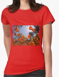Tulips Womens Fitted T-Shirt
