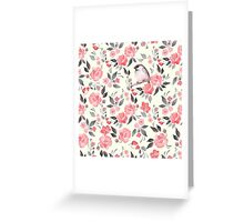 Watercolor floral background with a cute bird 2 Greeting Card