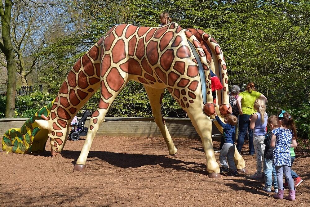 The giraffe-slide by Arie Koene