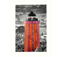 The Ribbon Tower, Glastonbury Art Print