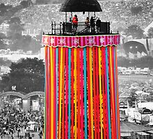 The Ribbon Tower, Glastonbury by Steve Briscoe