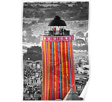 The Ribbon Tower, Glastonbury Poster