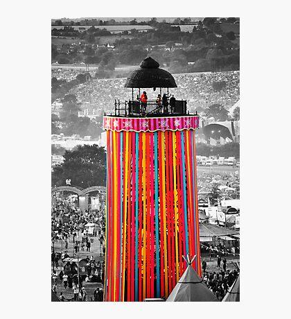 The Ribbon Tower, Glastonbury Photographic Print