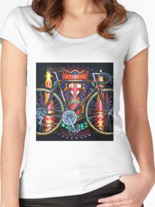 Hetchins Curly Bicycle Women's Fitted Scoop T-Shirt