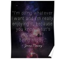 Jenna Marbles Inspirational Quote Poster