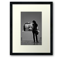 The lady and the sleeping giant Framed Print