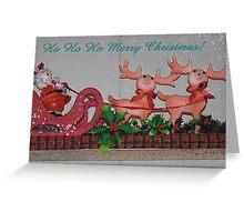 Santa's Sleigh Christmas Greeting Card