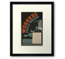 WPA United States Government Work Project Administration Poster 0511 Workers Science Program Framed Print