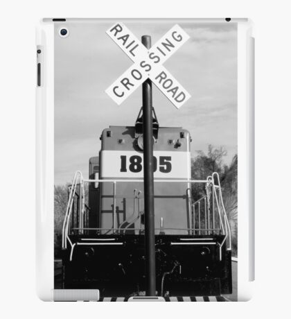 railroad croassing iPad Case/Skin