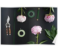 Florist workplace and accessories Poster