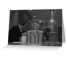 """""""just water please"""" Greeting Card"""
