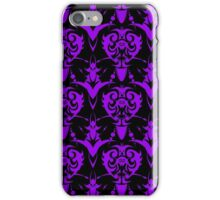 Cool Purple and Black Vintage Goth Damask  iPhone Case/Skin