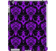 Cool Purple and Black Vintage Goth Damask  iPad Case/Skin